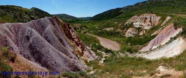Montaña de colorines en Bijuesca