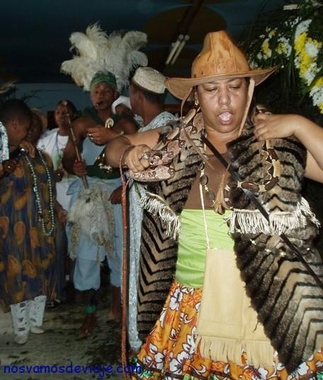 caboclo bailando con serpiente