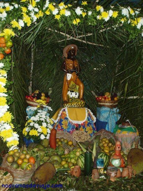 altar alrededor del que se baila