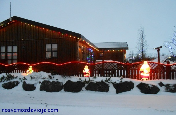 luces navideñas en Hveragerdi