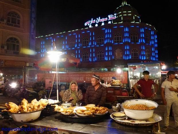 Mercado nocturno de Kashgar