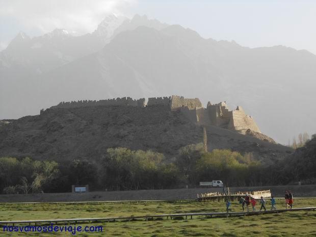 Vista del fuerte en Tashkurgan
