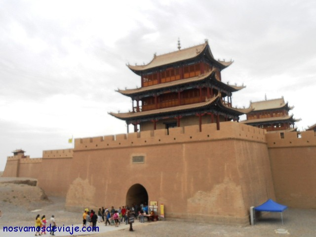 Puerta oeste del fuerte de Jiayugyan