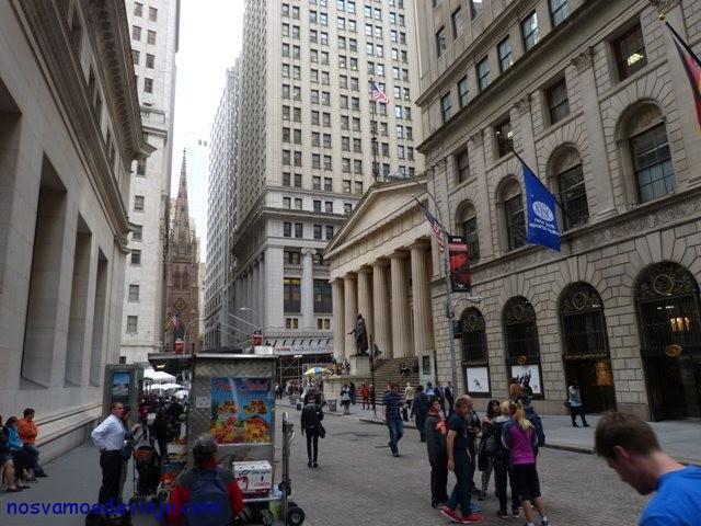 Carrito de comida en Wall Street