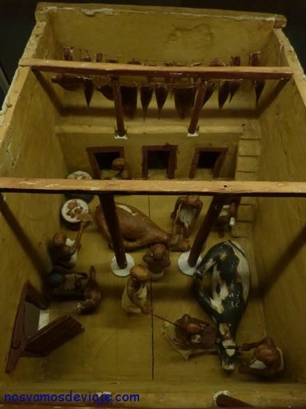 Maqueta de la tumba Meketre