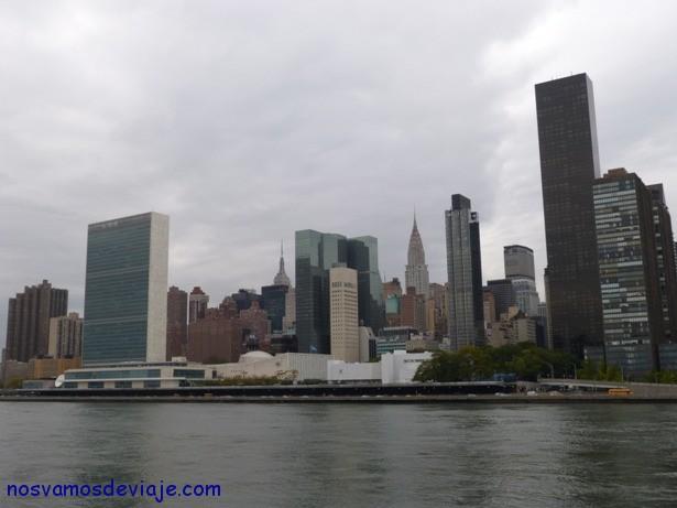 Skyline con la ONU NY