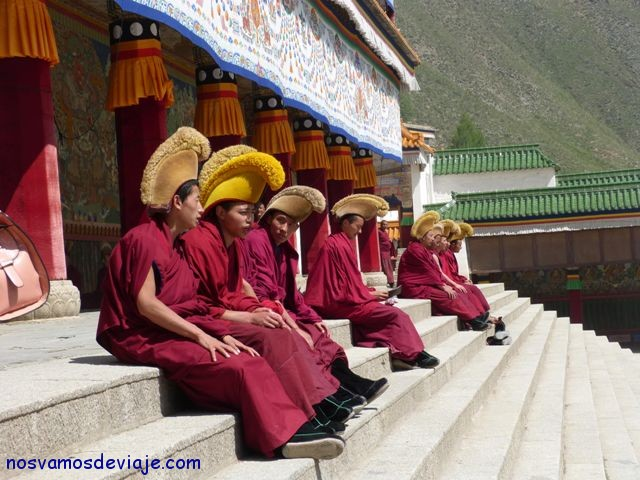 Monjes en Xiahe
