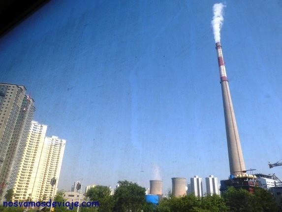 Lanzhou desde el tren