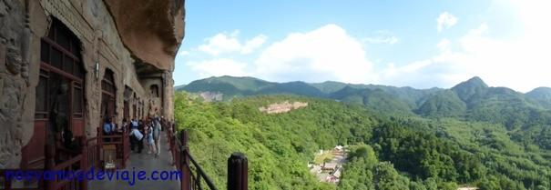 Vista de pasarelas en Maiji Shan
