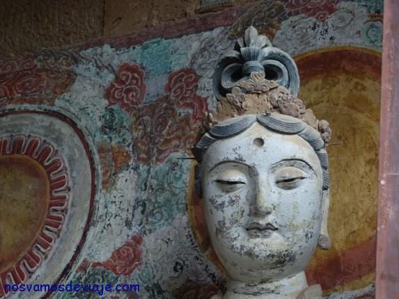 detalle de pinturas en Maiji Shan