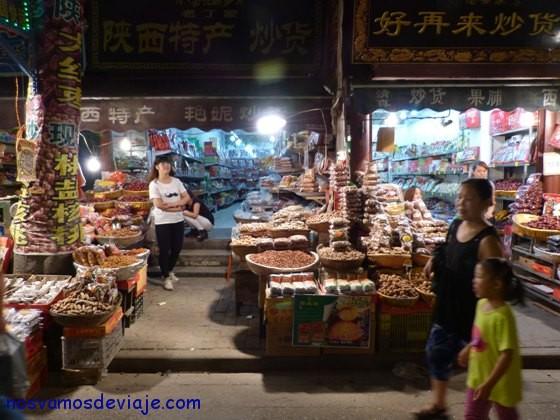 Mercado barrio musulman Xian