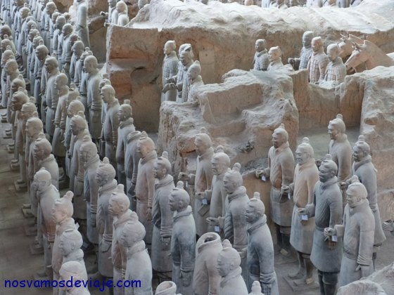 querreros en filas perfectas Xian