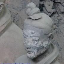 restos de pigmentos en guerrero Xian