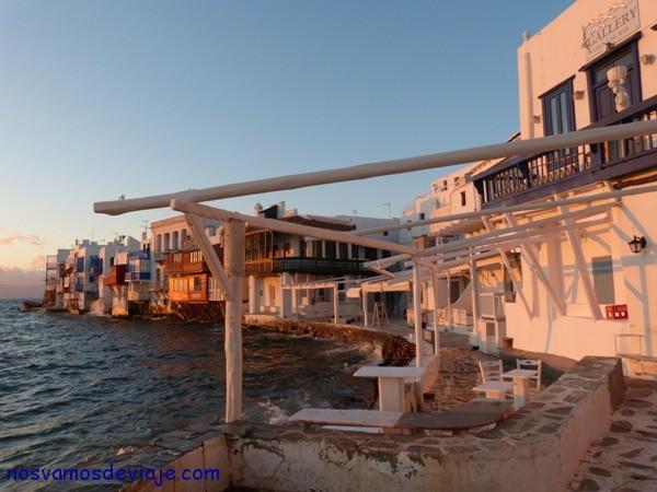Atardecer en Pequeña Venecia Mykonos