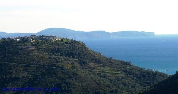 Pueblos en lo alto en Chios