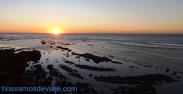 puesta de sol en Arcila