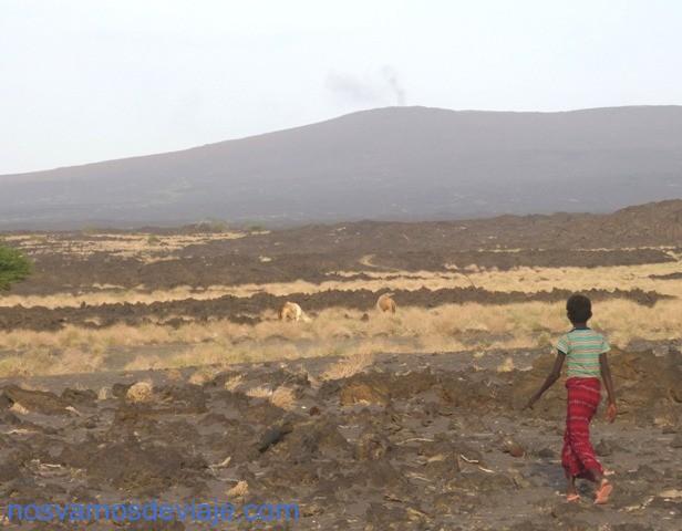 Iniciando la marcha al volcan