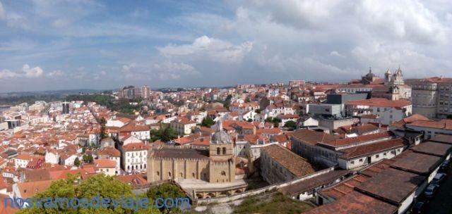 Vista desde la universidad Coimba con la Se fortificada