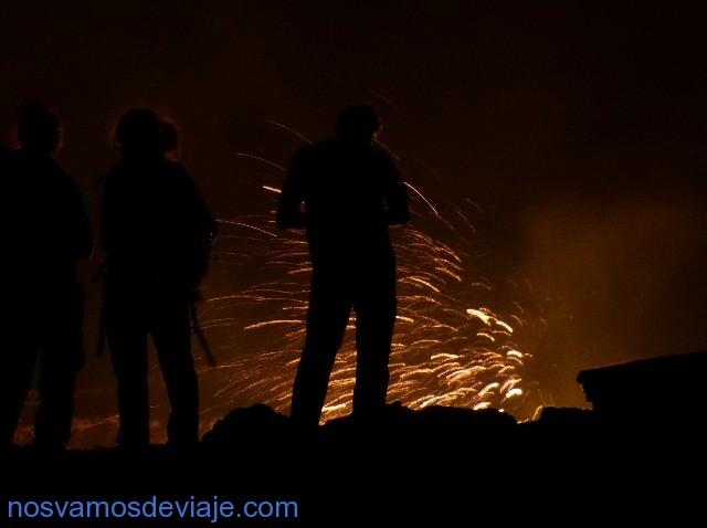 fuegos artificiales de bienvenida