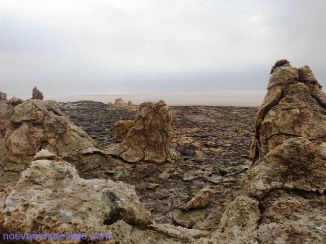 Subiendo al crater de Dallol