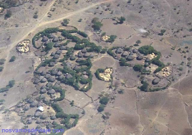 Vista aerea de poblado etiope