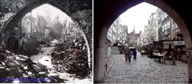 Gdansk tras la guerra mundial y ahora