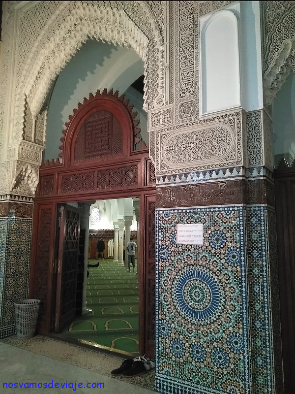 Entrada sala oracion mezquita Paris