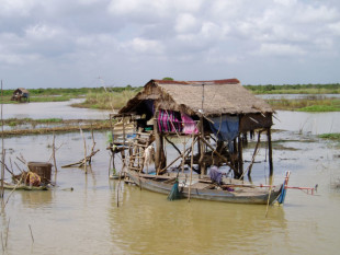 Vida en el lago Tonle Seap