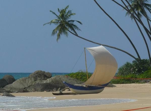Playa del oeste de Sri Lanka