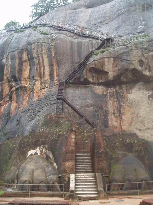 Patas de león, Sigiriya