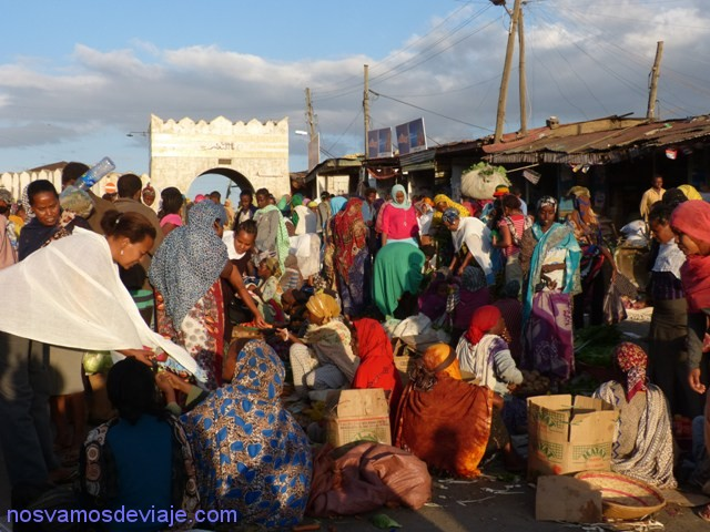mercado en Harar